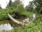 Рудня (Волож. р-н), мост подвесной (дерев.), после 1970 г.