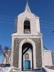 Вселюб, церковь: брама-колокольня, 1884 г.