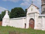 Юровичи, монастырь: брама и ограда с башенками