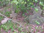 Ганышево, каменные кресты