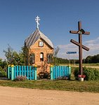 Корековцы, часовня придорожная, после 2000 г.