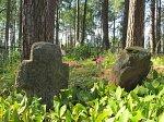 Майск, каменные кресты
