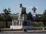 Пинск, памятник в честь строительства дороги Пинск-Брест, 1938 г.