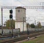 Столбцы, железнодорожный вокзал: башня водонапорная /сохр. частично/, 1-я пол. XX в.?