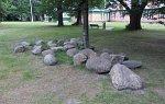 "Столин, усадьба: парк ""Маньковичи"": камни с надписями XVII-XVIII вв."