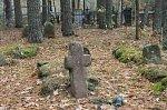 Борки (Кличев. р-н), кладбище христианское: каменный крест
