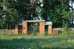 Докшицы, кладбище польских солдат: брама и ограда, 1-я пол. XX в.