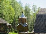 Домашаны, монастырь: колокольня (дерев.)