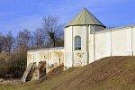 Ивенец, монастырь: ограда с башней, XVIII в.