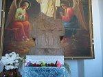 Кировск, церковь: каменный крест