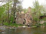 Лососна, водяная мельница (руины), XIX в.