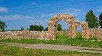 Полочаны, костел: брама и ограда (руины), XIX в.